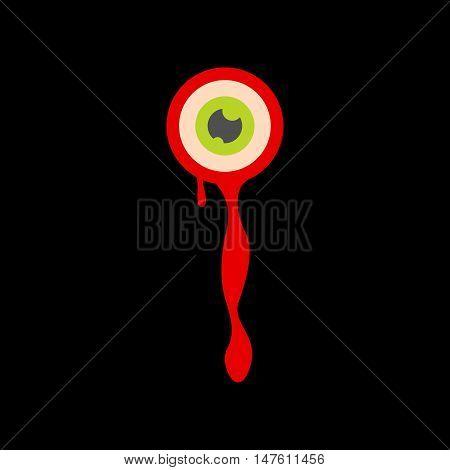 flat icon on stylish background halloween zombie eyes