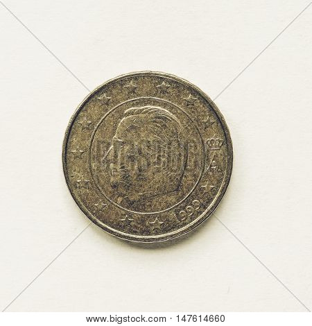 Vintage Belgian 10 Cent Coin