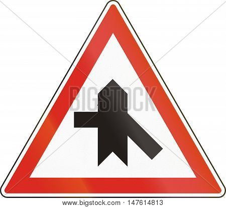 Hungarian Regulatory Road Sign - Crossroads With Priority