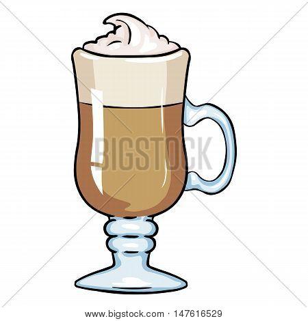 Vector Cartoon Glass With Irish Coffee