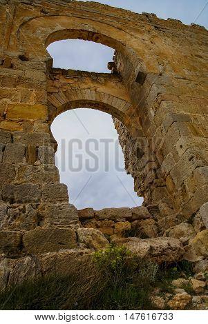 Medieval Castle In Gormas, Soria, Castilla Y Leon, Spain