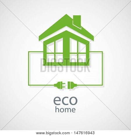 Eco home concept. Vector.
