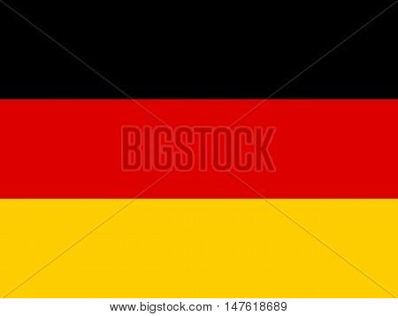 Official national flag of Germany background closeup