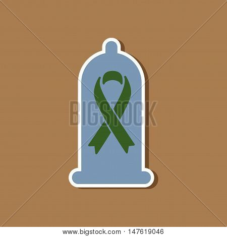 paper sticker on stylish background gays condom contraceptive