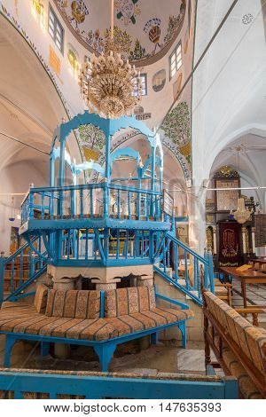 The Abuhav Synagogue, In The Jewish Quarter, Safed (tzfat)