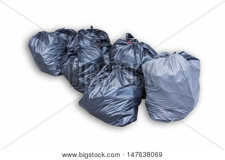 object of garbage bag on white background