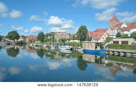 Village of Plau am See in Mecklenburg Lake District,Mecklenburg western Pomerania,Germany