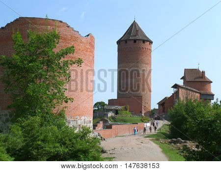 Turaida Castle with the Medieval Tower, UNESCO World Heritage Site in Sigulda, Latvia