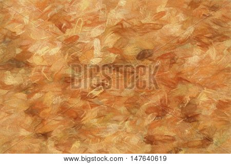 Blank particle board or feather like brown pattern as full frame abstract background