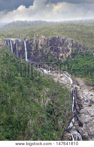 Tropical Blanco Falls in North Queensland Australia