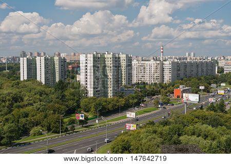 August 9 2013: Foto of Moscow region Vladikino and Otradnoe. Russia