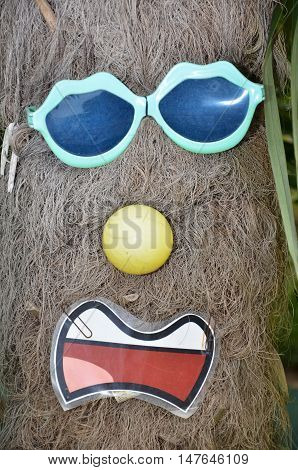 Funny photo of a tree and sunglasses in Singapore