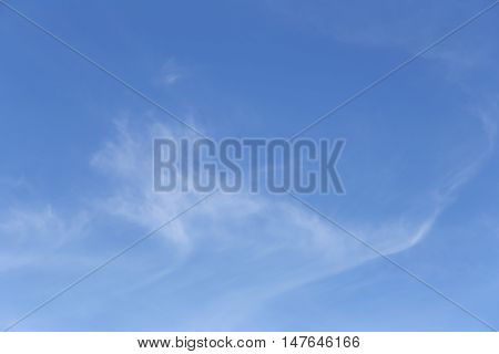 Cloud on blue sky in the daytime of Bright weather for design nature background.