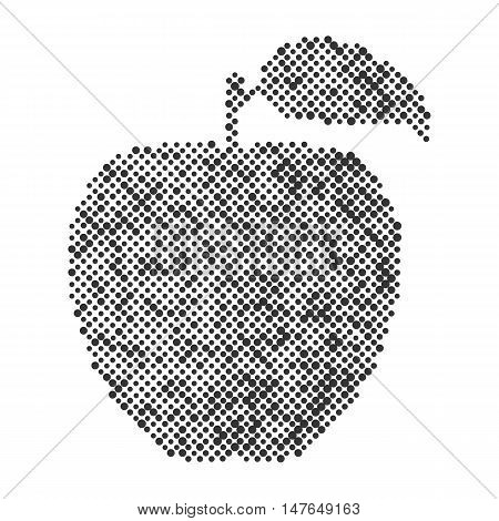 Abstract vector apple isolated. Ecology and bio food concept. Abstract apple dots design symbol, Apple icon