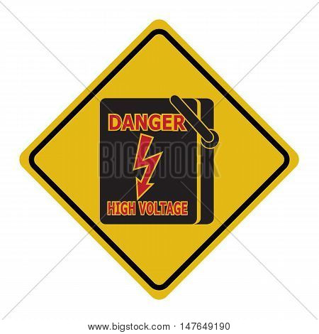 Electrical switch the power voltage symbol warning sign