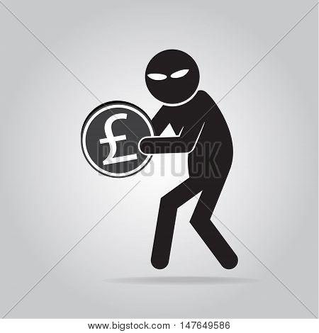 Hacker Internet security concept. icon vector illustration