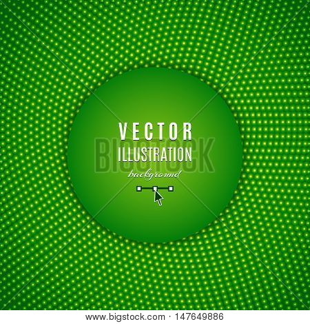Green abstract background, green digital background, green dots design, abstract light halftone. Text place, all the elements are isolated and can be easily edited, Vector illustration