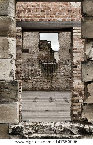 Port Arthur the old convict colony and historic jail located in Tasmania, Australia