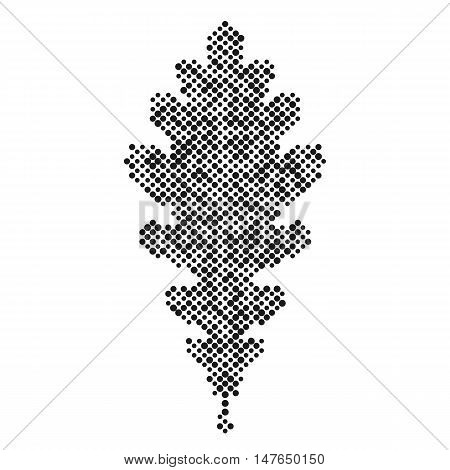 Oak leaf isolated dot abstract design symbol, Oak leaf icon, vector illustration