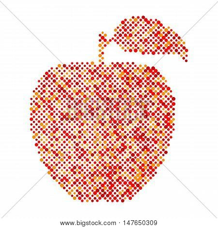Red apple isolated, Ecology and bio food concept. Abstract apple dots design symbol, Red Apple icon