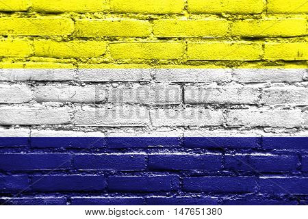 Flag Of Daule, Ecuador, Painted On Brick Wall