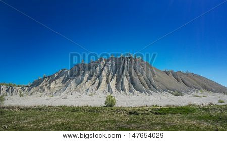 Abandoned mines. Old quarry mountain.The ashes dunes in Estonia Europe.