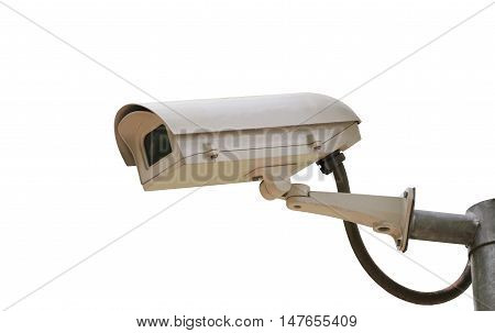 CCTV camera digital video recorder isolated on white background and have clipping paths.
