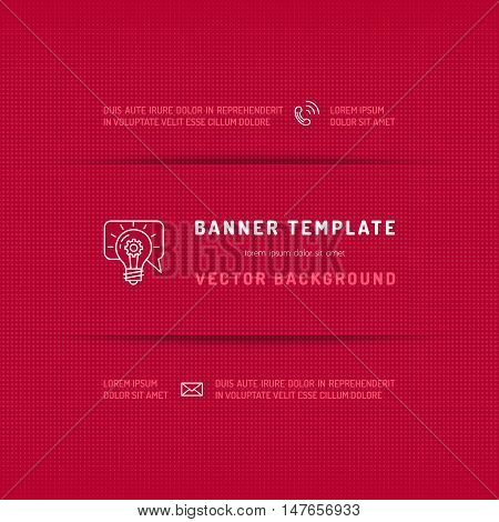 Banner website template, Magenta pink abstract background, Web design graphic elements. Cut paper shadow. Mock-up of banner, Vector illustration, Eps 10