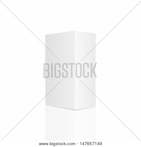 White tall box. Ready for your design. Vector illustration esp 10