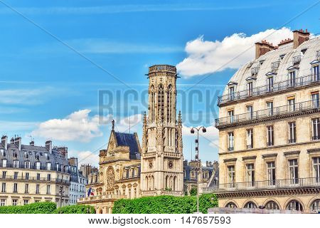 Saint-germain L'auxerrois Church  Is Situated Near Louvre Museum. It's Construction In Roman, Gothic