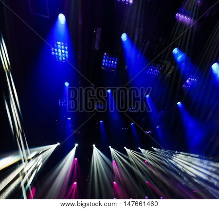Abstract image of disco lights. Scenic Spot Light