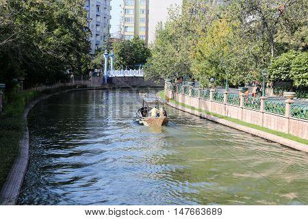 Porsuk River In Eskisehir