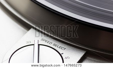 speed switch on turntable, Vinyl player, Spinning record