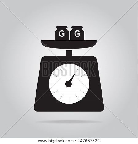 Weight scale icon object symbol vector illustration