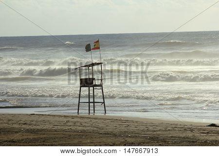 Public beach in Beirut, Lebanon. Ramlet al-Baida Beach, Beirut, Lebanon.