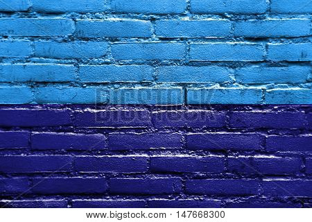 Flag Of Duran, Ecuador, Painted On Brick Wall