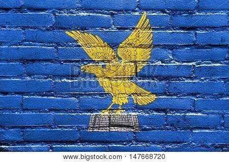 Flag Of Friuli-venezia Giulia, Italy, Painted On Brick Wall