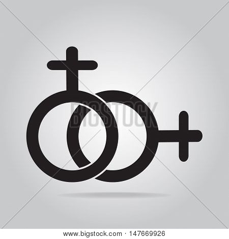Female and female symbol female love female icon