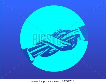 A Figurative Picture Symbolising A Contact And (Or) Agreement Resembling A Handsshaking.