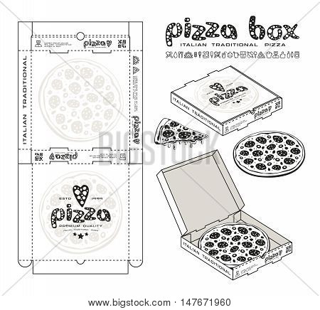 Stock Vector Design Of Boxes For Pizza