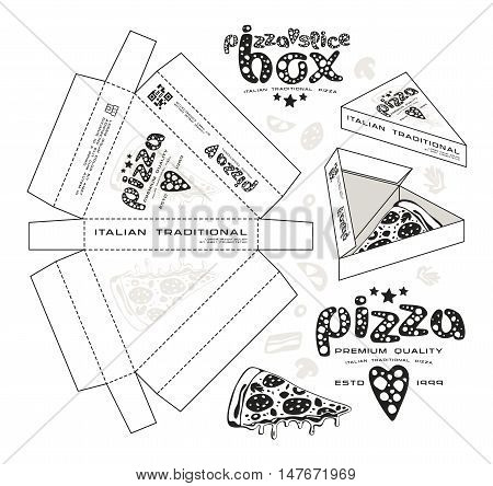 Stock Vector Design Of Boxes For Pizza Slice