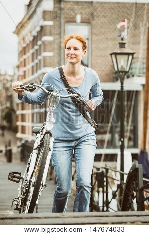 Old Town - Woman With A Bicycle