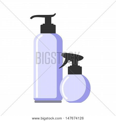 Household chemicals. domestic chemistry isolated in white. Vector illustration.