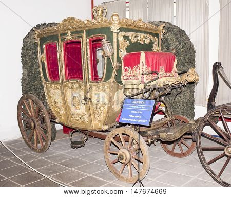 Moscow, Russia -September 4, 2016: Carriage - 18th century in