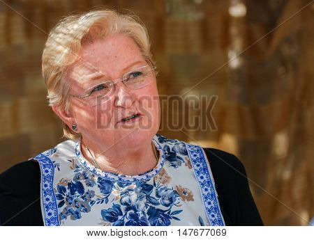 SDE TZVI ISRAEL - MARCH 02 2012: middle-aged dutch woman