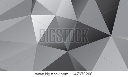abstract dark gray polygonal illustration background .