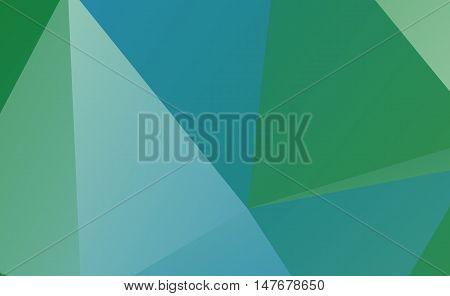 Light blue green polygonal illustration background .