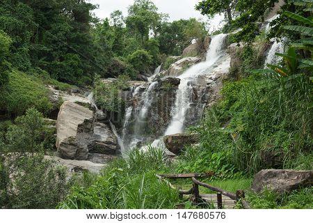 Mae Klang Waterfall at Doi Inthanon national park Chiang maiThailand.