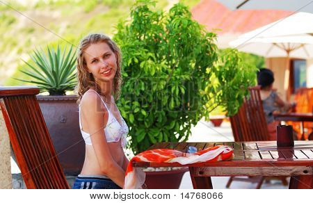 Girl in the Café resort