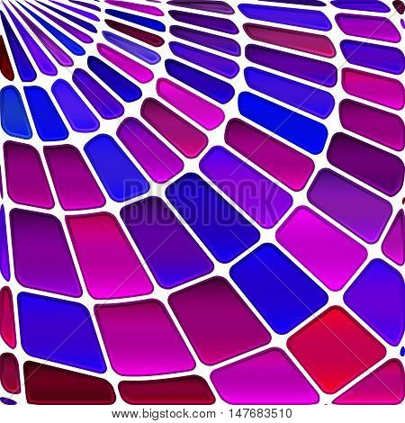 abstract vector stained-glass mosaic background - blue and magenta